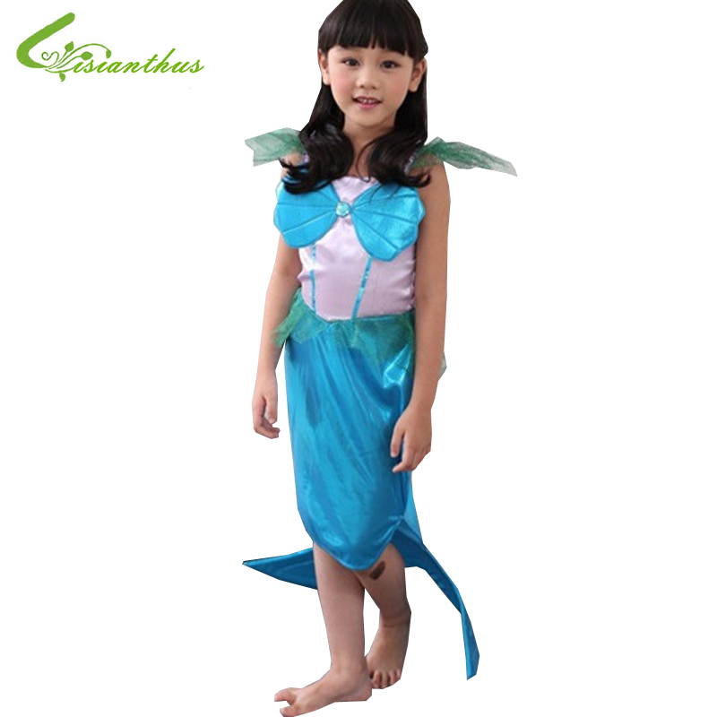 Girls Halloween Costumes Little Mermaid Dress Cosplay Stage Wear Clothing Kids Party Fancy Ball Clothes Fairy Tales Free Ship зиновьева л fairy tales three little pigs три поросенка thumbelina дюймовочка