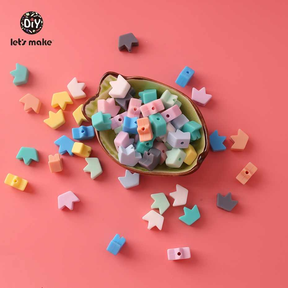 Let S Make 100pc Baby Teething Beads Chewing Pacifier Clips