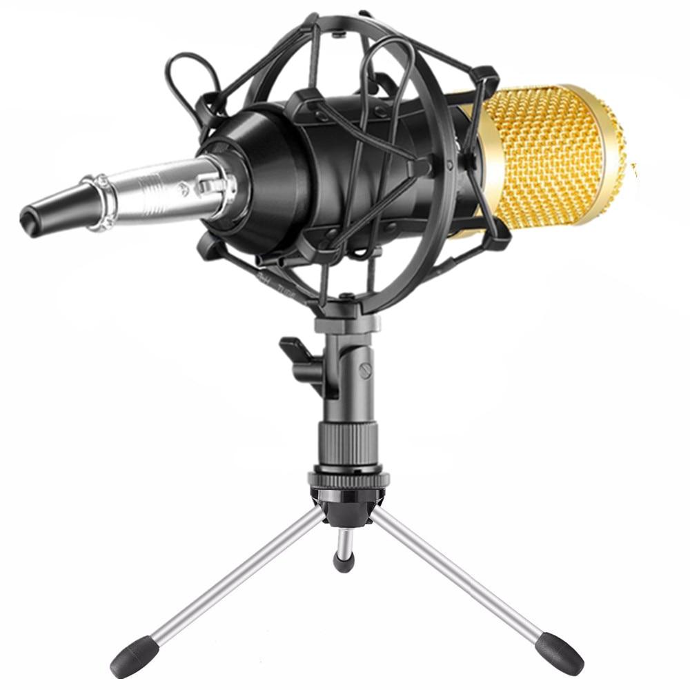 BM800 Mikrofon Condenser Sound Recording BM 800 Microphone With Shock Mount For Radio Computer Singing Bm-800 KTV Karaoke