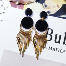 Retro Circular Earrings with exaggerated long tasseled Earrings 2019 new fashionable personality earrings and Earrings personality exaggerated fashionable with diamond crystal earrings