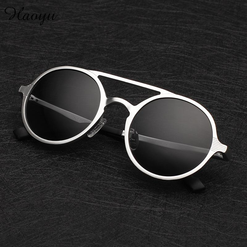 e1d6b7dfb628 Viodream Fashion 2019 polarized sunglasses hot selling male sunglasses  round aluminum magnesium driving mirror sun glasses