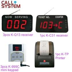 3-ter um sistema de número com contador de dígitos sem fio fila dispenser bilhete impressora térmica para o banco do sistema de gestão da clínica