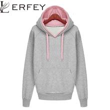 Women Autumn Winter Sweatshirt Casual Double Hoodies Long Sleeve Female Pullover Loose Tops Sweatshirts Women s