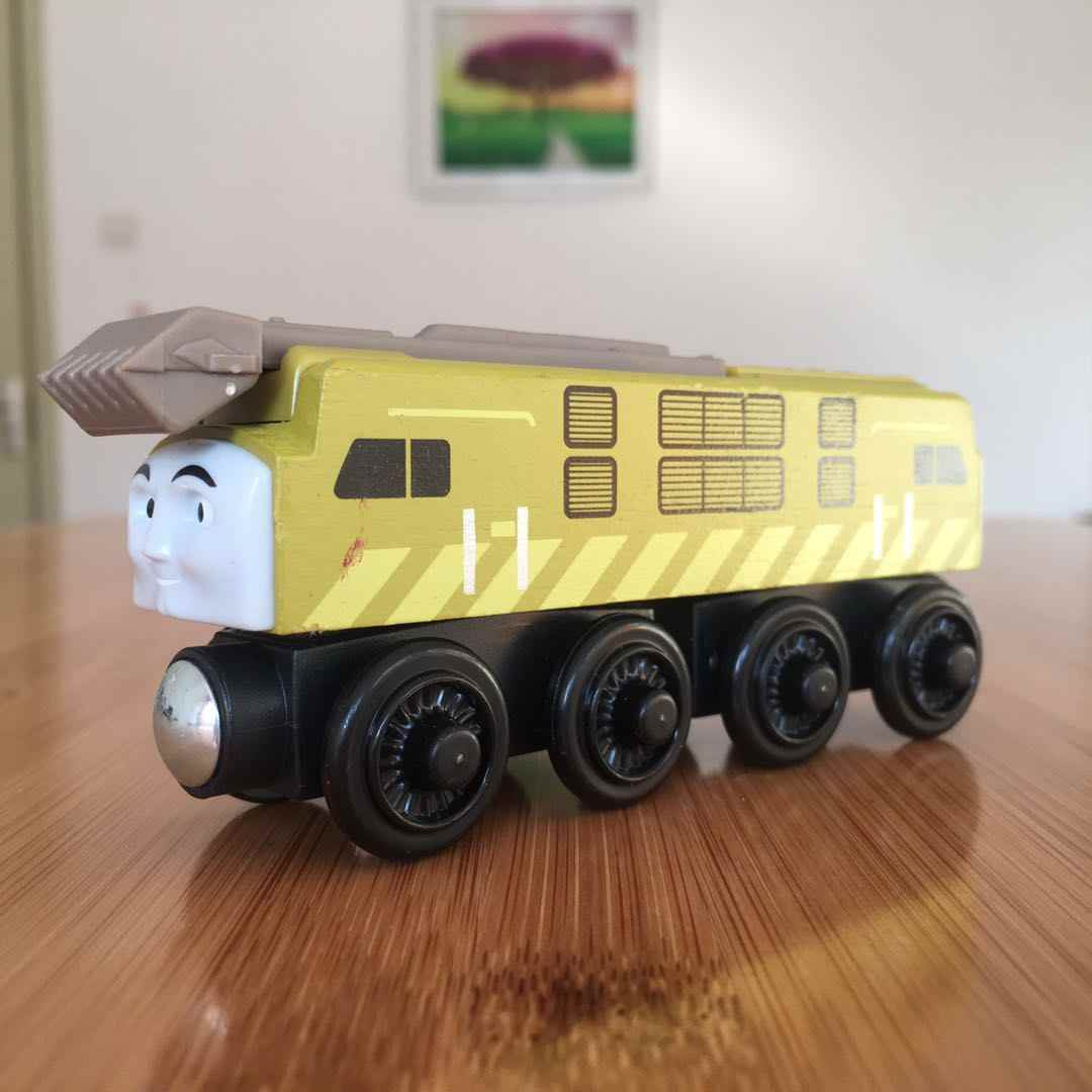 DIESEL 10 Wooden Locomotive Train Compatible with Brio Wooden Train Railway Model Car for Children Gift for Kids