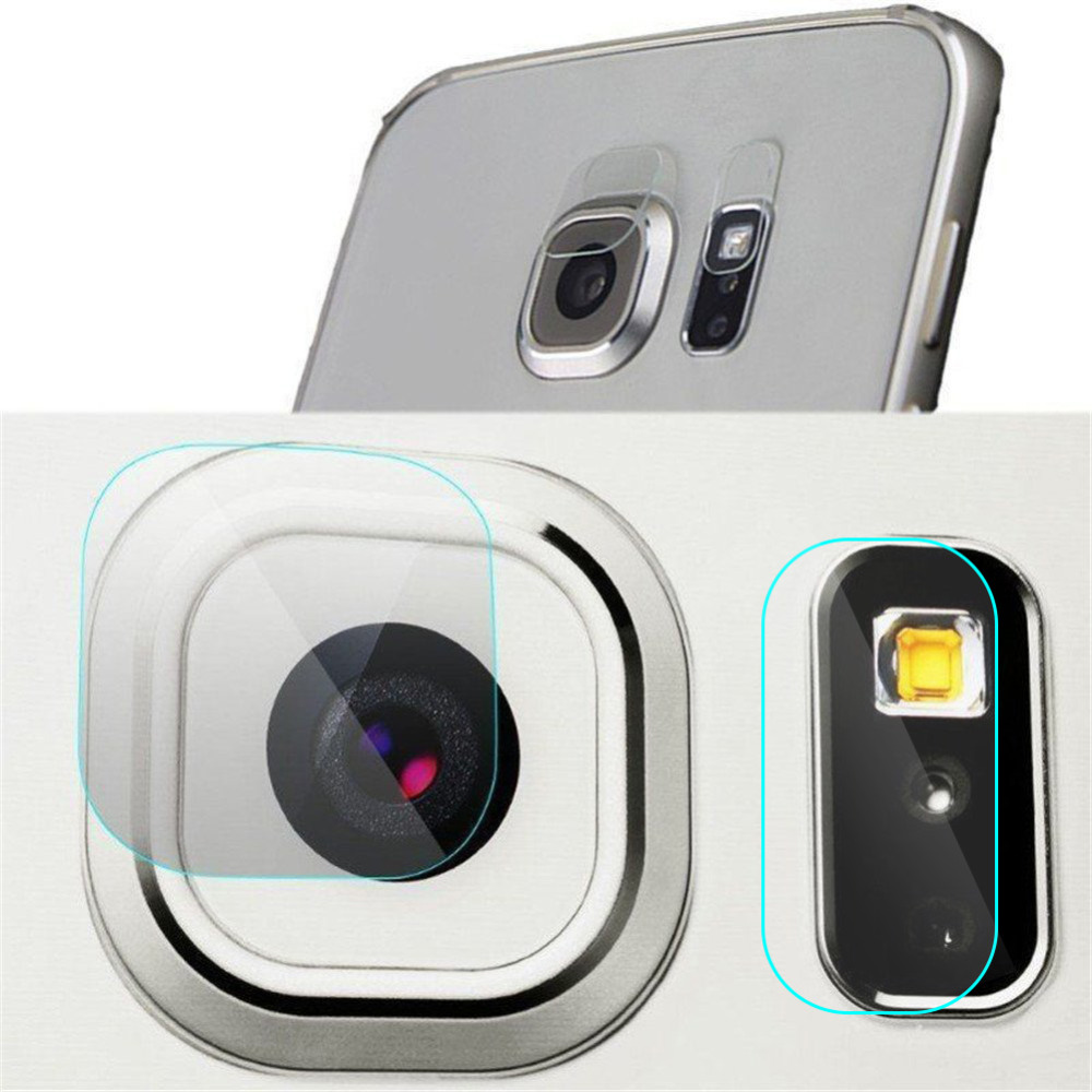 Tempered glass For Samsung S6 S7 Edge S8 S9 Plus Note 8 5 Rear Camera lens Cover Back Flash + Len Protector Tempered Glass Film