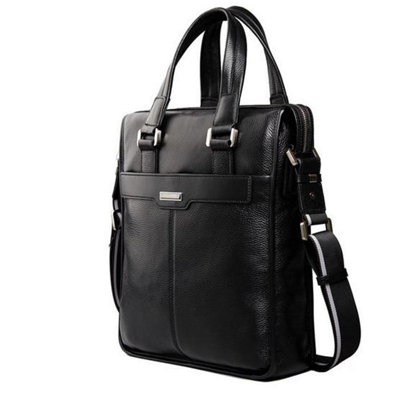 Ny P.kuone mærke mænd taske håndtaske ægte læder taske cowhide - Håndtasker - Foto 2