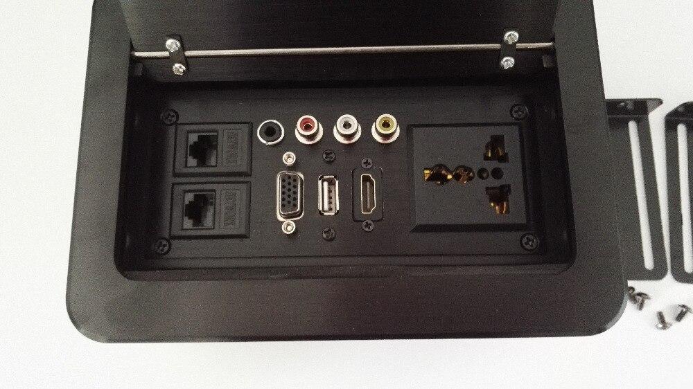 Desktop Hidden Lan Outlet lipe Up For Conference system RCA HDMI rj45 socket small pop up socket eu usa universal power 2 rj45 pop up socket cable information outlet box high grade desktop 50 pcs set