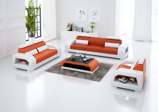Modern Sofas Furniture Sets Leather Sofa Bed Dubai Set G8001d In Living Room