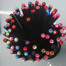 10 Pcs/Set Pencil HB Diamond Color Stationery Items Drawing Supplies Cute Pencils For School Basswood Office