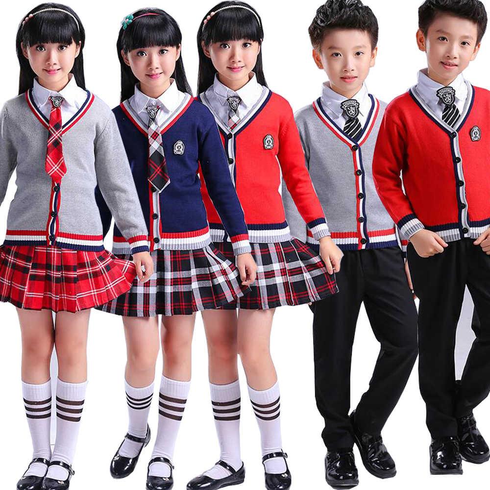 14dcb73231 Children Japanese Korean School Uniforms for Girl Boys Navy Style Tops + Skirt +Shorts +