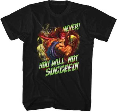 Street Fighter Capcom Video Game You Will Not Succeed Adult T Shirt