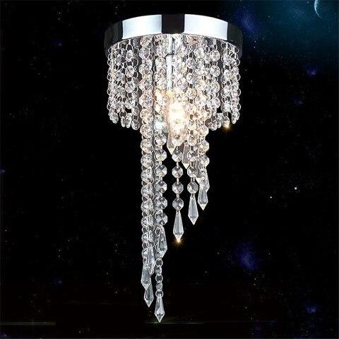 lustre moderno de teto cromado dourado luminaria led cristais lampada para teto