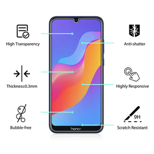 Image 3 - 5Pcs Tempered Glass For Huawei Honor 8A Screen Protector 9H 2.5D Phone On Protective Glass For Huawei Honor 8A Glass