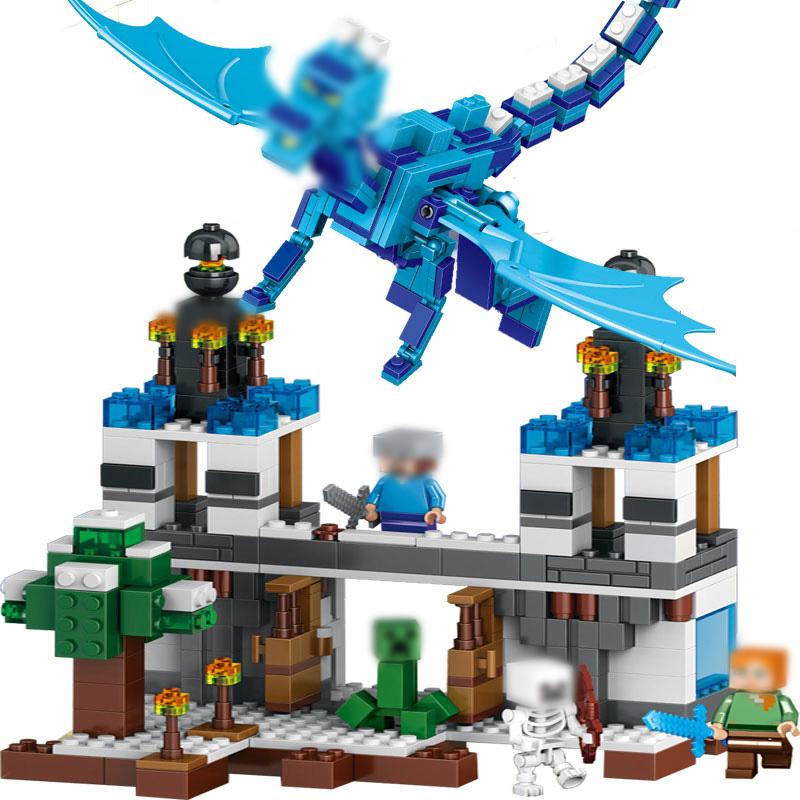 конец самоконтрящаяся кирпичи игрушки под дракон МСП с 21117 стивен эндерман мой мир minecrafted строительный блок мальчик подарок
