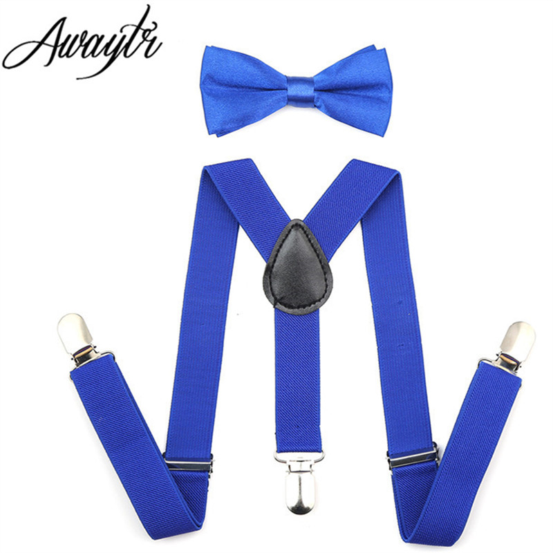 Awaytr Kids Suspenders 2017 Boys Boys Adjustable Elastic Clip On Baby - Αξεσουάρ ένδυσης - Φωτογραφία 3