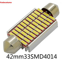 Kit 2 Lampada Torpedo 30 4014 Chips Samsung Leds Luz Teto Placa Smd Super Branca 39mm