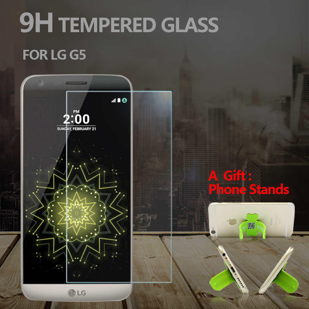 Premium Tempered Glass Screen Protector for LG G5 9H 2.5D Glass Protective Film for G5 Anti Scrach Anti-shatter Anti-broken