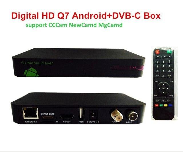UK/NL Receiver HD Digital Cable Box Q7 Android DVB C TV Box CCCam ...