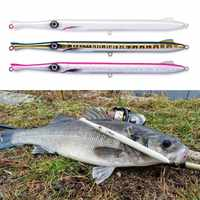 Señuelo de pesca don belone 225mm/27g lápiz de fundición larga stickbaits pesca para pesca leerfish y azul pescado