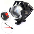 2 pcs Waterproof Motorcycle Motorbike Headlight Fog Lamps LED 1200LM High Low Beam Flash Driving Spot Head Light