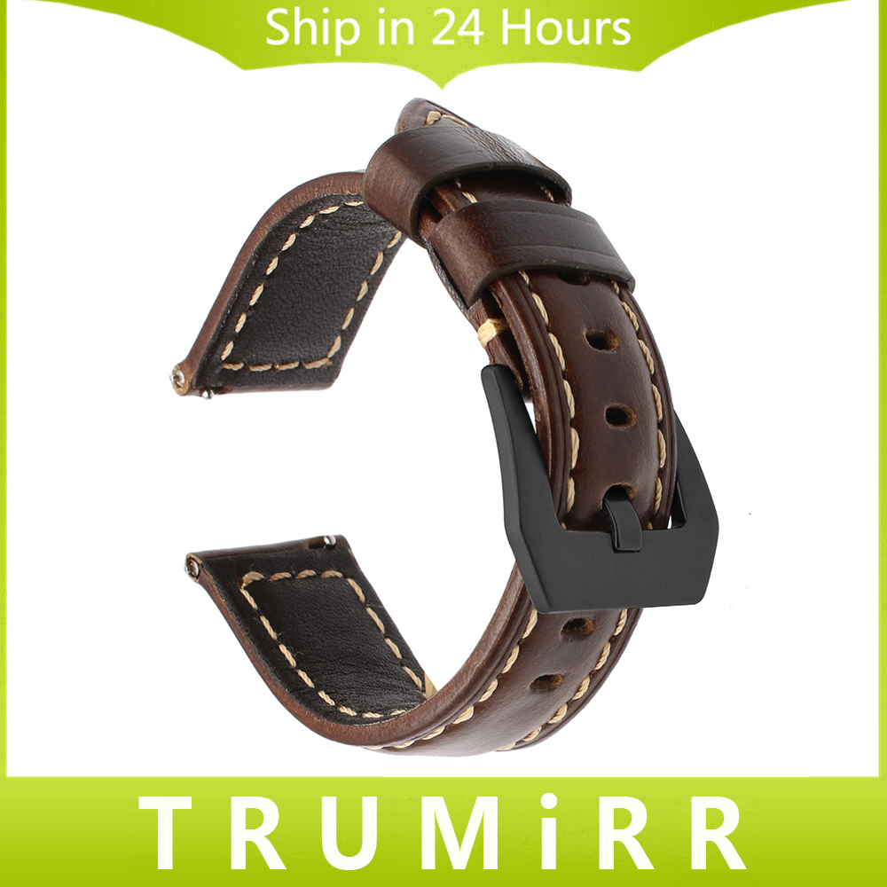 22mm Italy Oily Genuine Leather Watchband for Samsung Gear S3 Classic Frontier Quick Release Watch Band Steel Buckle Wrist Strap crested genuine leather strap for samsung gear s3 watch band wrist bracelet leather watchband metal buck belt