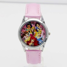hot selling children cute Princess dial quartz watch Snow White Girl Cartoon Bir