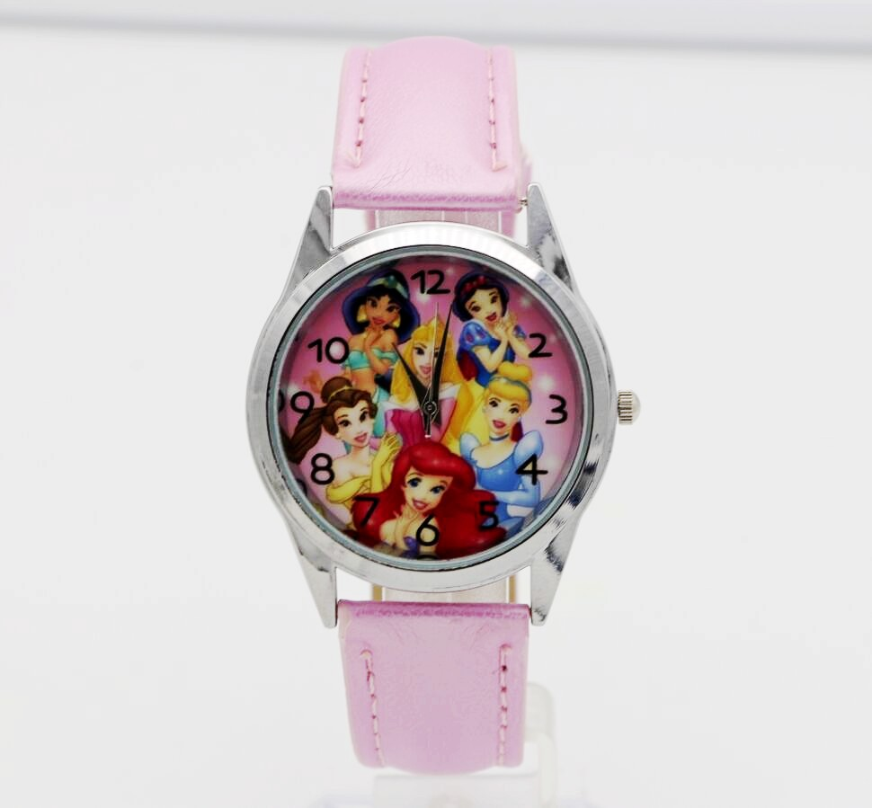 hot selling children cute Princess dial quartz watch Snow White Girl Cartoon Birthday Party Gift for kids watch