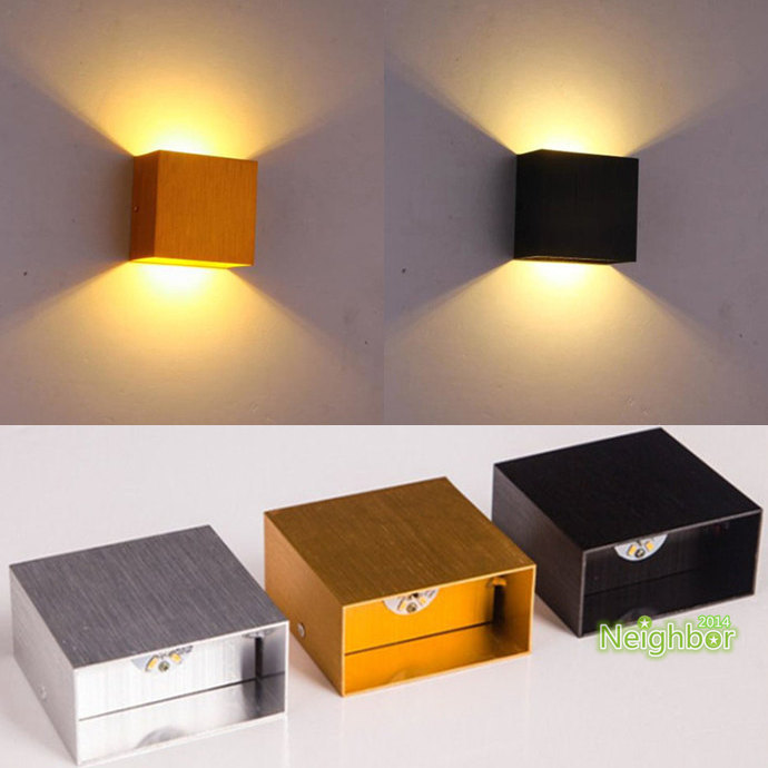 Aliexpress.com: Compre New Modern 6W LED Square Wall Lamp Hall Porch  Walkway Living Room Light Fixture Indoor Lighting De Confiança Square Wall  Lamp ... Part 91