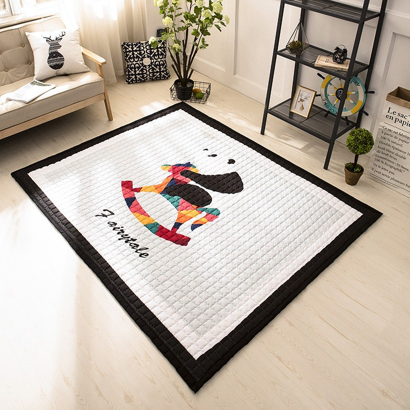 все цены на Infant Shining Play Mat Baby Crawling Pad Thickening Baby Parlor Game Pad for Children Puzzle Living Room Children Bedroom Rugs онлайн