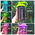 1000ml big capacity heath herbalife simple style Sports water bottle with straw belt outdoor space water bottles