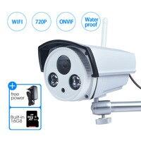 JOOAN Wireless IP Camera 1 Megapixel 720P Wireless Security Outdoor Bullet Built In 16GB Micro SD
