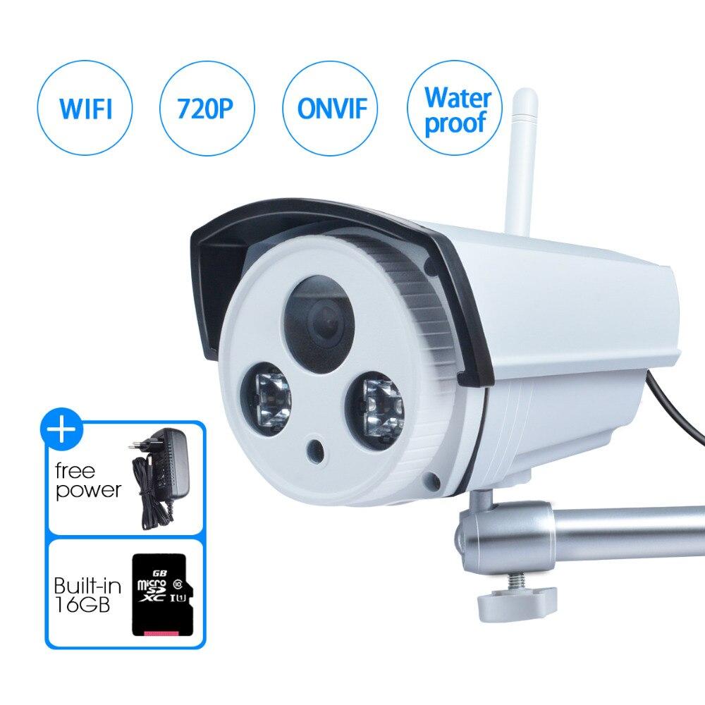 JOOAN Sans Fil IP Caméra 1-Megapixel Audio Enregistrement 720 P Sans Fil de Sécurité Extérieure Balle Intégré 16 GB SD Carte Wifi Caméra