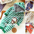 New 2015 outono inverno romper do bebê produtos do bebê recém-nascido de algodão listrado casacos crianças desgaste do bebê macacão de bebê menino geral