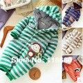 Nueva 2015 otoño invierno mameluco del bebé productos para bebés recién nacidos mamelucos del bebé en general los niños prendas de vestir exteriores de ropa de bebé de algodón a rayas