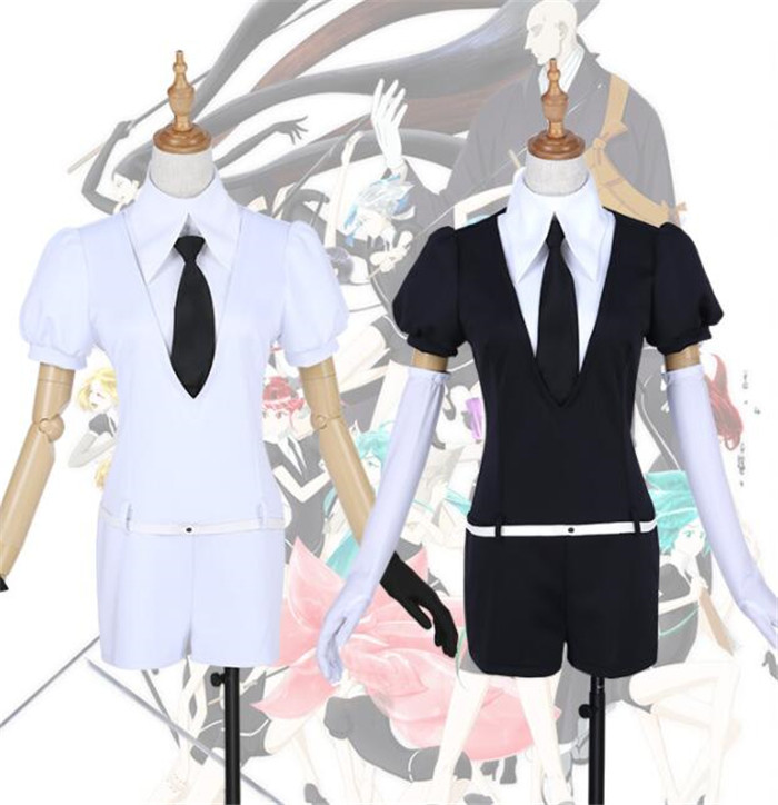 Anime Land of the Lustrous Houseki no Kuni Jade Yellow Diamond Cosplay Costume Playsuit Outfits Uniforms Suits A501