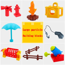Big Size sets Large particle toys Building Blocks accessory Fence seesaw Kids Gift Compatible big size Duploed christmas gift