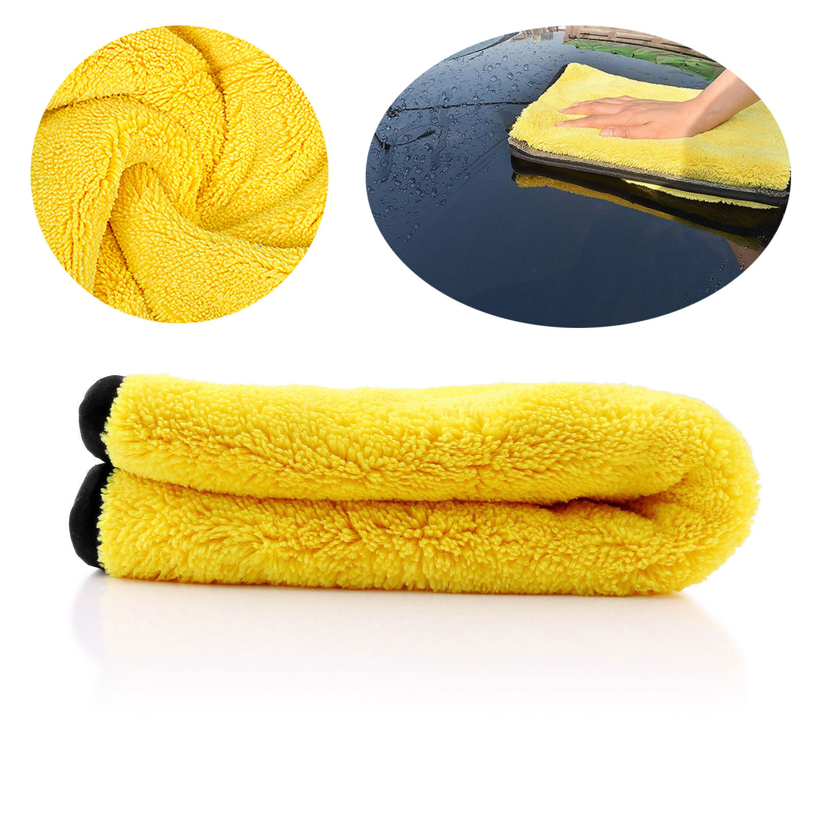 4 Size Super Absorbent Car Wash Cloth Microfiber Towel Cleaning Drying Cloths Rag Detailing Car Towel Car Care Polishing 18