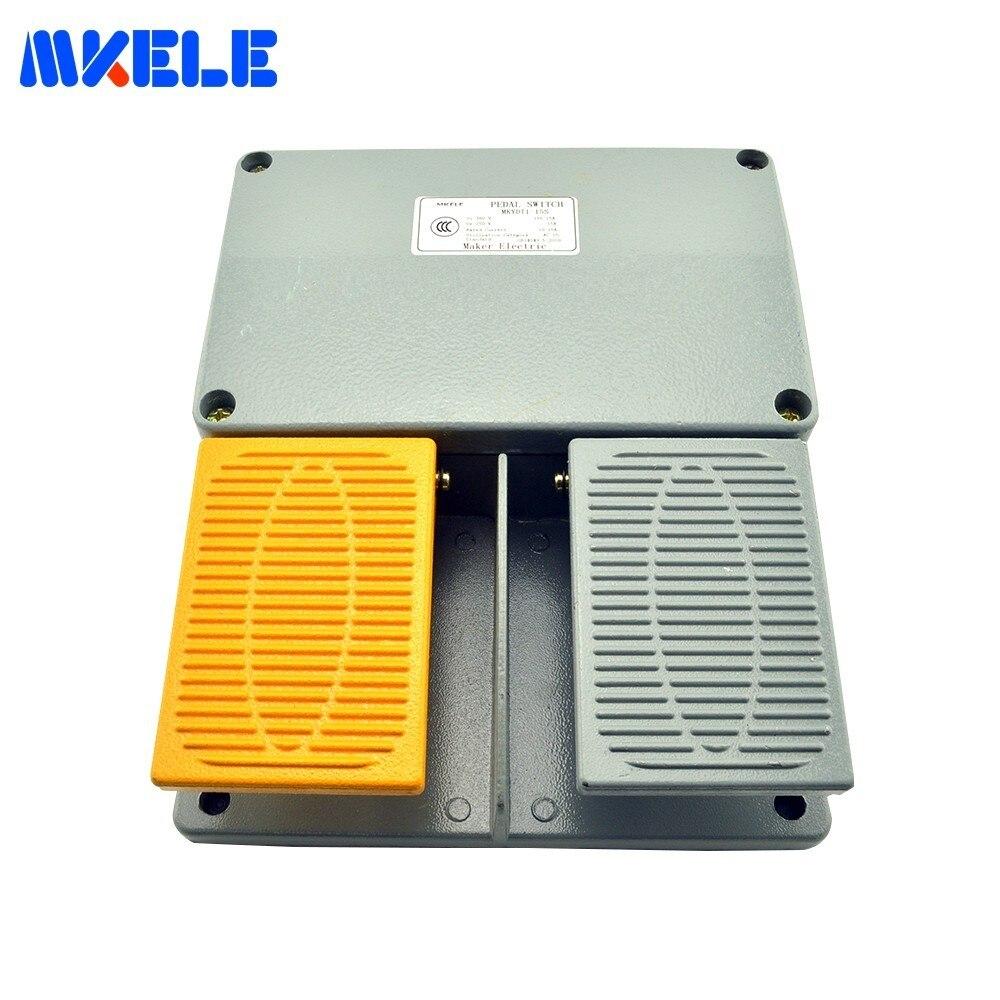 Double pédale commutateur industrie IP67 garde-boue pédale interrupteur MKYDT1-15S commutateur à pédale avec bouton-poussoir fabriqué en chine
