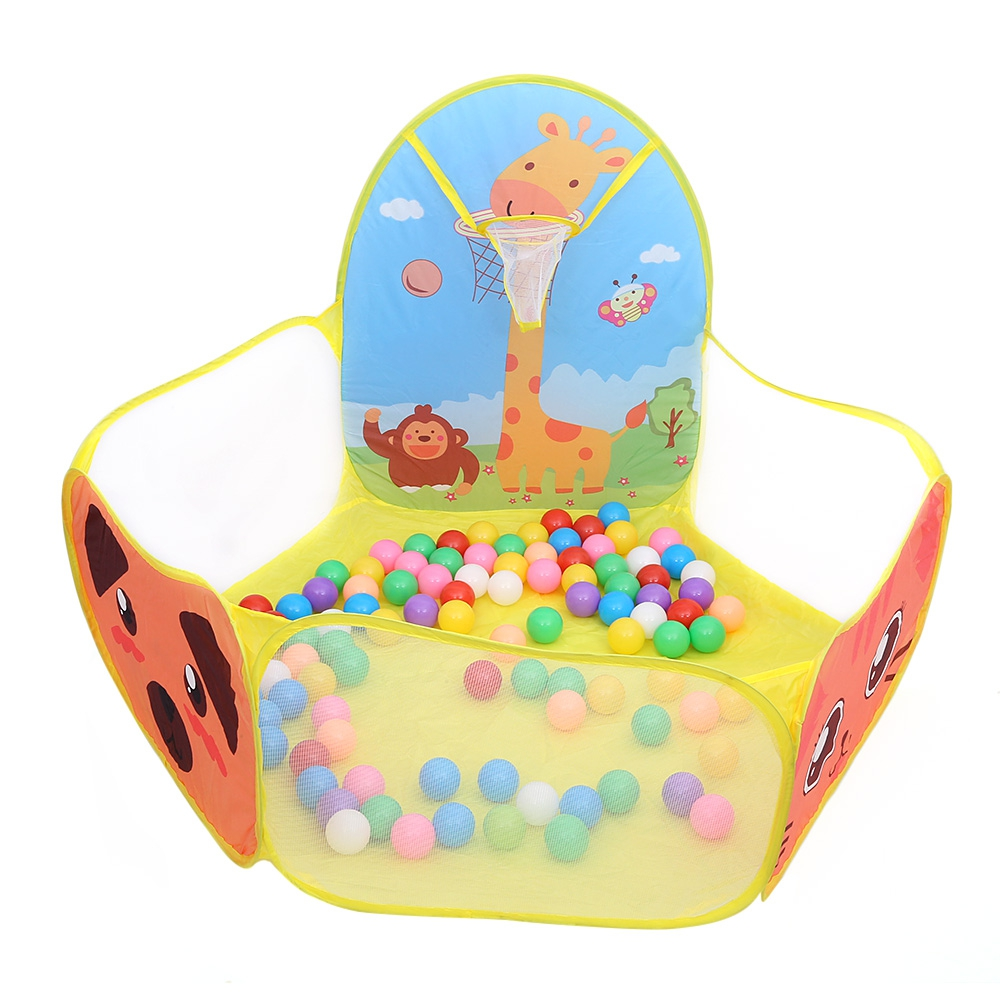 Portable Foldable Cartoon Animal Children Toy Tent Funny Ocean Ball Pit Swimming Pool Tent Gym Play Tent For Kids Shooting
