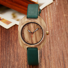 Ladies Wood Watch Female Bracelet Wrist Watches Wooden Case