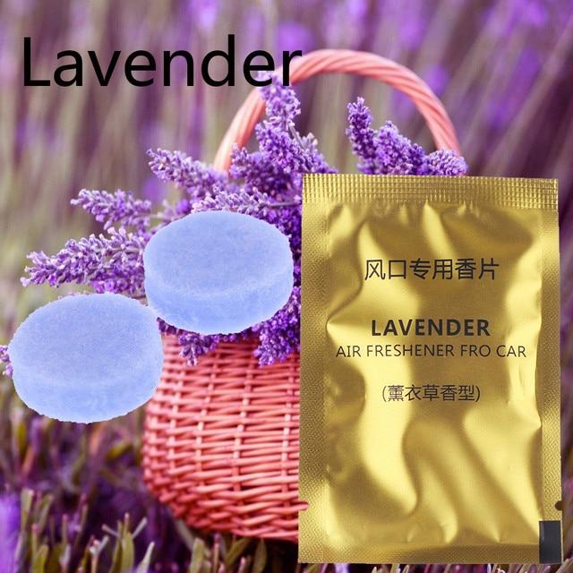 5 Packs Car Styling Air Freshener Aroma Solid Perfume Lemon Peach Ocean Lavender Cologne Flavoring Auto Interior Fragnace Sachet 5