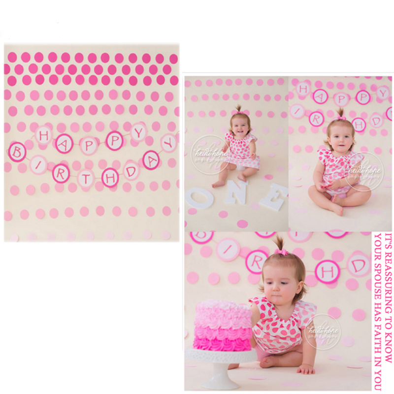 MEHOFOTO Vinyl Photo Backdrops Birthday Party New Fabric Flannel Photography Background Pink Dots For Children photo studio 6720 mehofoto 8x12ft vinyl photography background christmas theme backdrops light for children snow for photo studio st 328