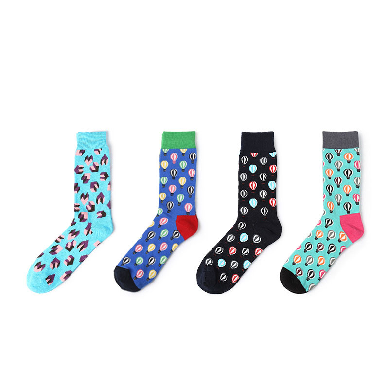 2018 New Men Women Cotton Socks Classical Hot Air Balloon Cool Funny Socks For Couples Lovers