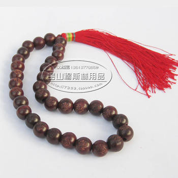 Free shipping high-grade Muslim scripture of Islam Muslim worship supplies 33 rosary mahogany Taisibiha