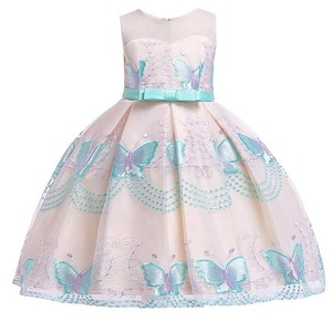 Image 4 - Butterfly embroidery flower girl princess party dresses for weddings kids girl clothes children clothing baby costume L5088