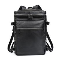 2019 пояса из натуральной кожи рюкзак для мужчин водостойкий ноутбук бизнес сумка мессенджер путешествия большой ёмкость черный