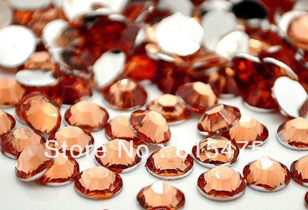 5mm Lt.Peach Color SS20 crystal Resin rhinestones flatback,Nail Art Rhinestones,30,000pcs/bag 5mm black diamond color ss20 crystal resin rhinestones flatback free shipping 30 000pcs bag