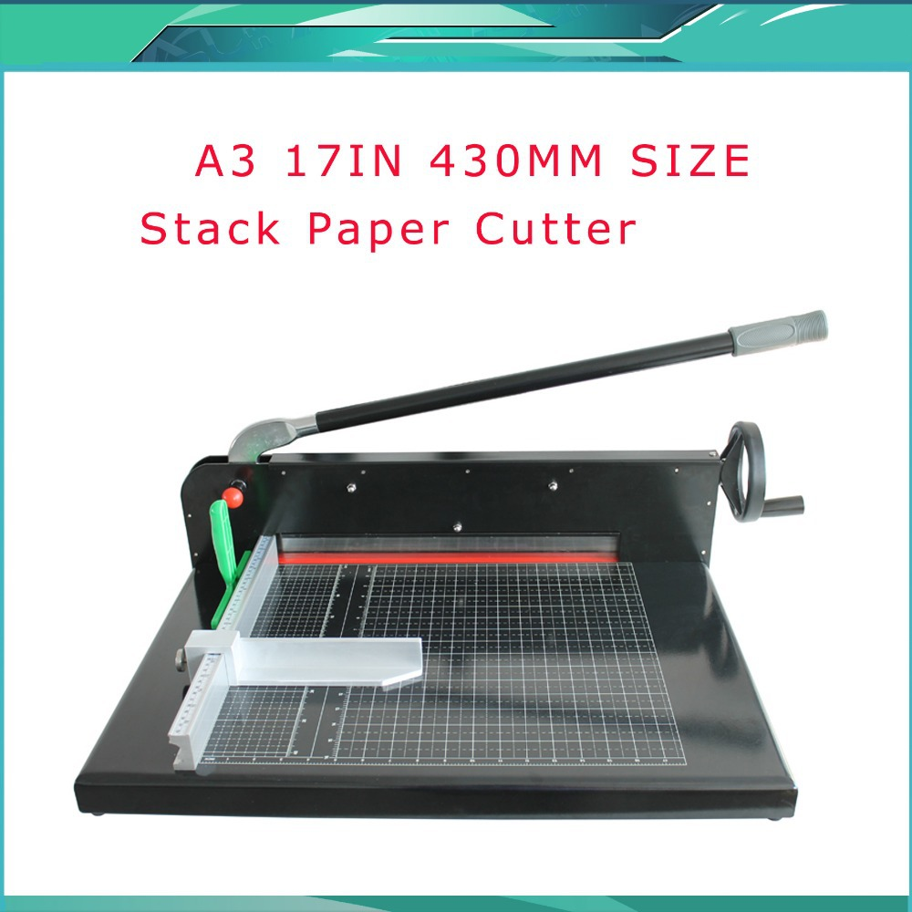 Stack Paper Cutter Brand New Heavy Duty All Metal Ream Guillotine 17 A3 Size Stack Paper Cutter Cutting Machine 2sk4212 k4212 to251 252