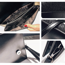 Luxury Sequined Casual Leather Women's Clutch Bag