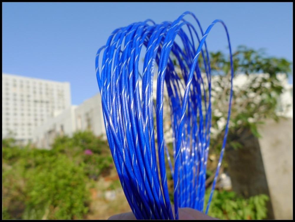 Big Banger 200m/reel Tennis String High Quality Tennis Strings Tennis Racket String 1.30mm (Blue)